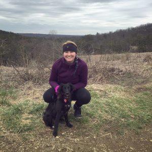 Designer Jessica and her dog, Rye.