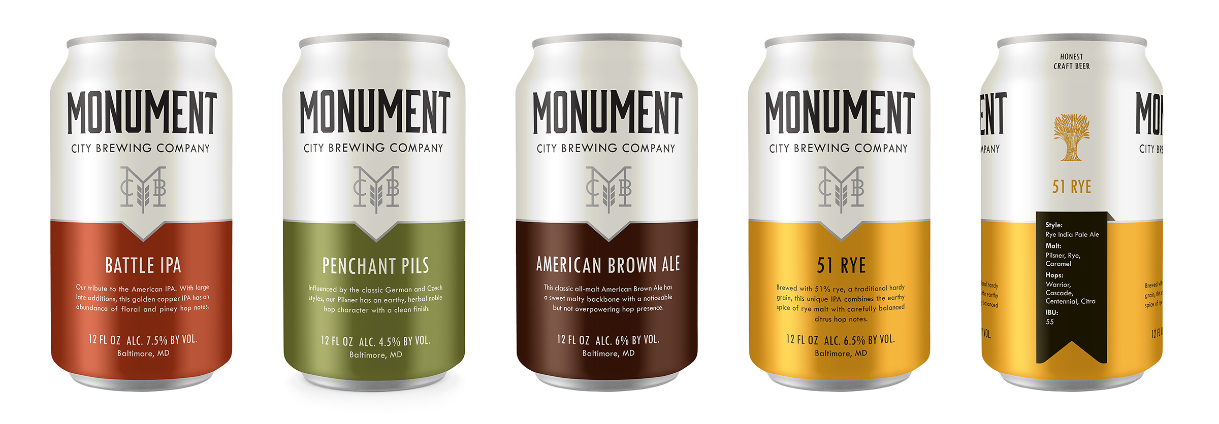 Monument Core Can Lineup