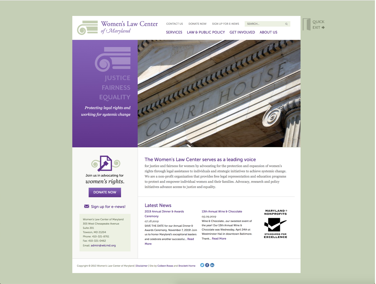 Women's Law Center original website