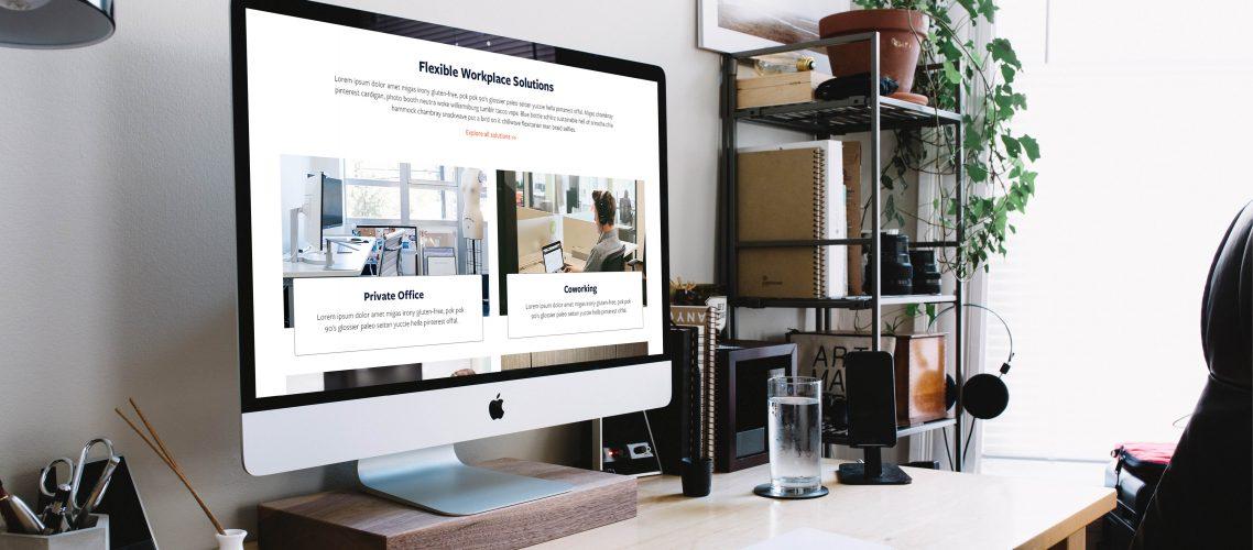 Launch Workplaces website design