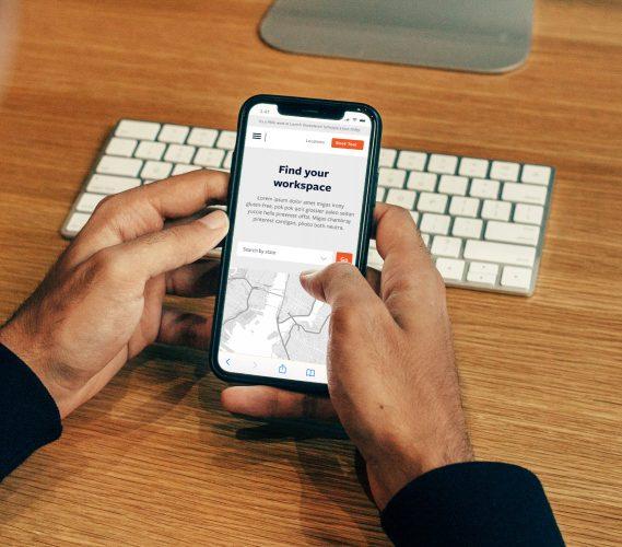 Launch workplaces website design, responsive