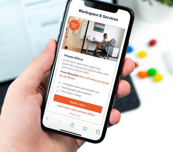 Launch workplaces website design responsive
