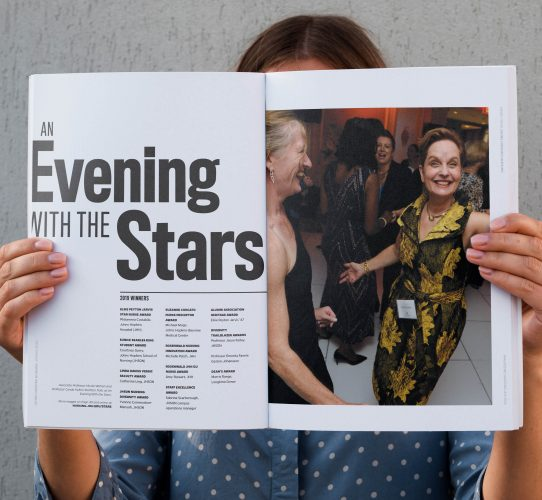 An Evening with the Stars award recipients interior spread from Spring 2020 magazine